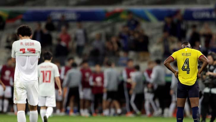 Japón y Ecuador jugaron para Paraguay