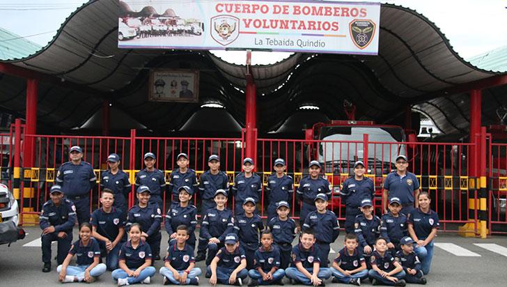 Brigada infantil de bomberos de La Tebaida, única en el Quindío