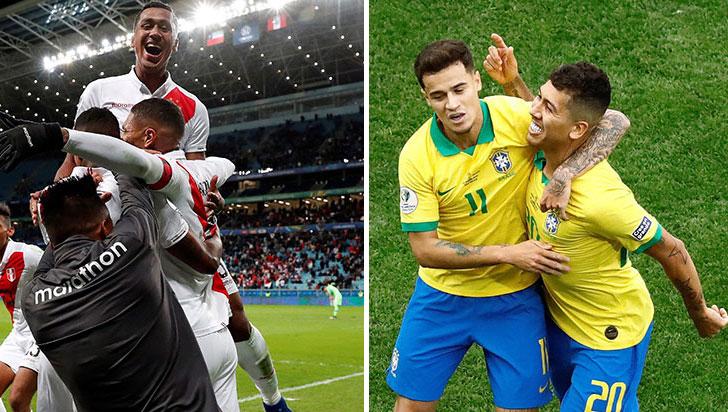 Brasil quiere la Copa en su casa, Perú por una sorpresa histórica