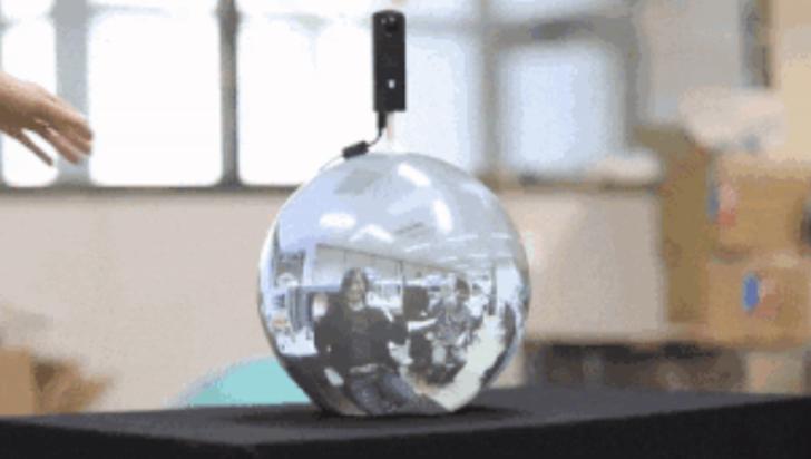 """Crean pantalla similar a """"bola de cristal"""" que transmite 360 grados de imagen"""