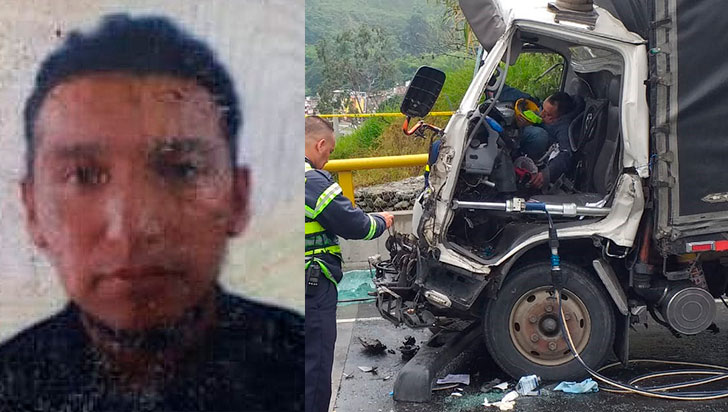 Accidente en el helicoidal cobró vida de copiloto de camión