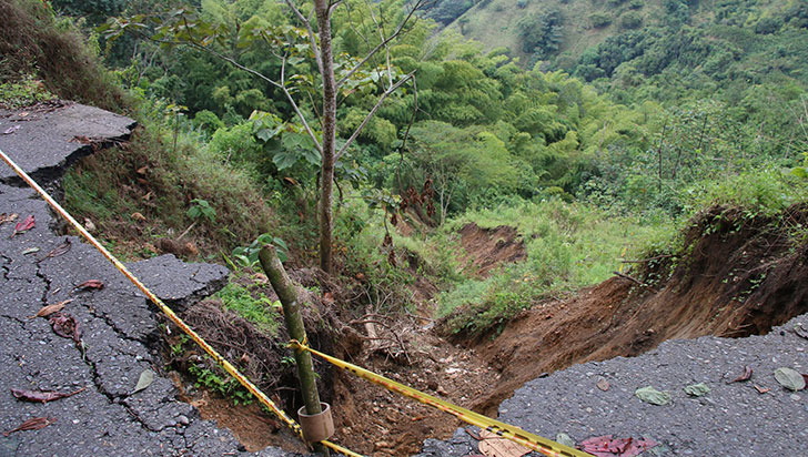 Obras de recuperación de la vía Río Verde-Pijao iniciarían en dos meses