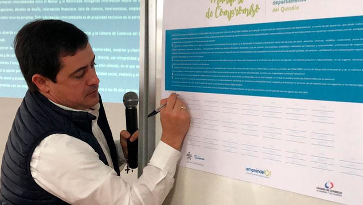 25 empresarios y Sena firmaron  pacto para iniciar Red de Mentores