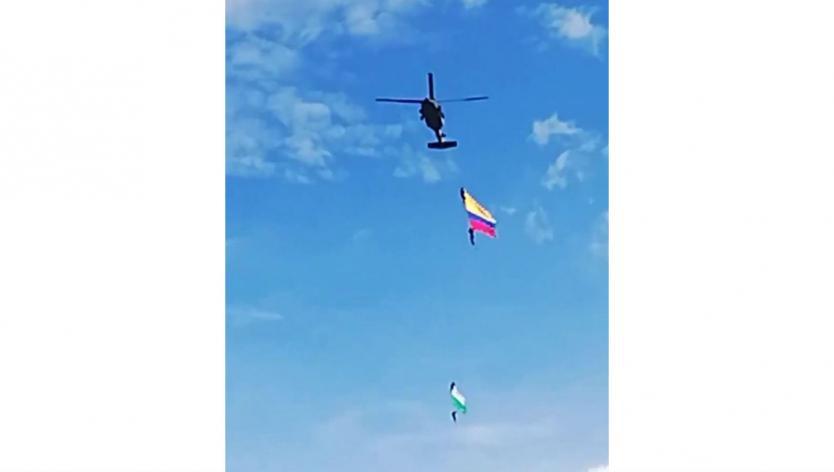 Dos soldados murieron al caer de un helicóptero durante desfile de silleteros