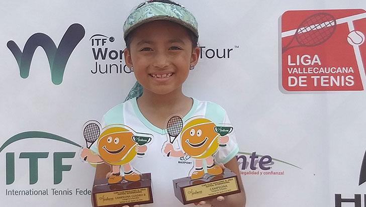 Sara Barbosa es la campeona en internacional de tenis Farallones
