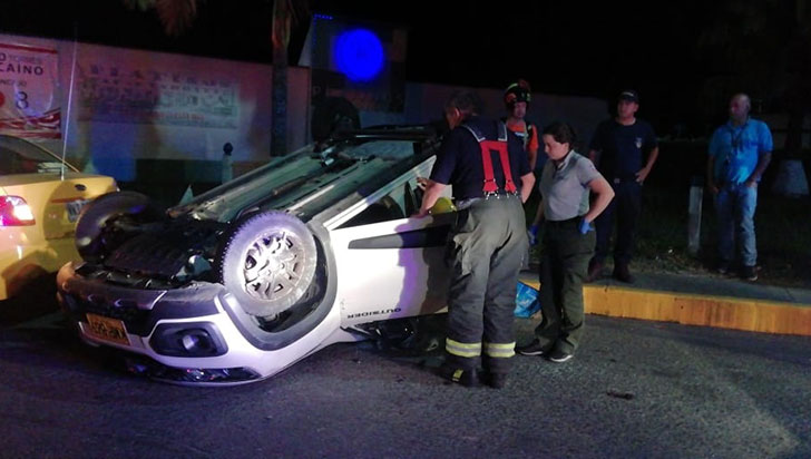 Una persona lesionada en accidente de tránsito