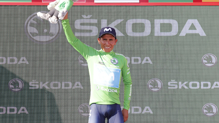 Nairo Quintana, ganador de la segunda etapa de la Vuelta a España