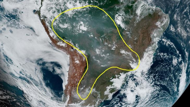 Humo de los incendios amazónicos llegaron hasta Uruguay