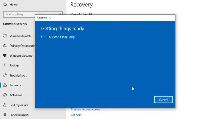Windows 10 permitirá reinstalar sistema operativo desde la nube