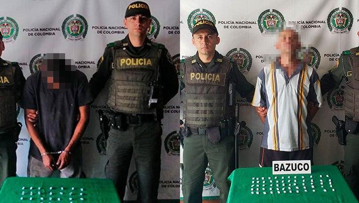Capturados dos presuntos expendedores de alucinógenos en Calarcá