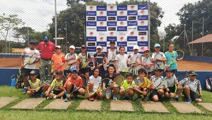 Ocho ganadores dejó el circuito tenis y valores en el club Campestre