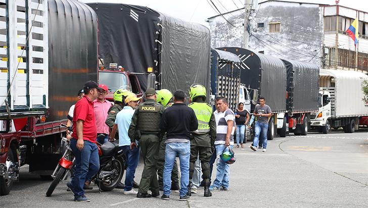 Trastornos en el transporte público de Bogotá por protesta de conductores