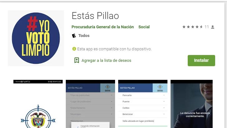 Estás 'pillao' aplicativo para que ciudadanía denuncie irregularidades en época electoral