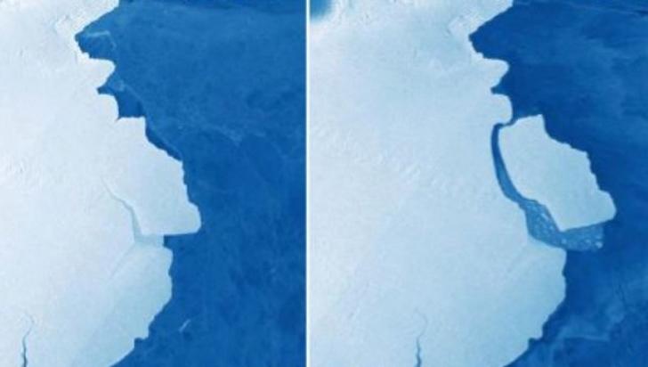 Un iceberg casi del tamaño del Quindío se desprendió de la Antártida