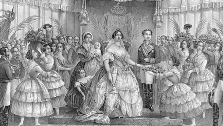 ¡De no creer! Gobierno iraní retiró una grabado de Isabel II, realizado en 1858, porque aparece con escote