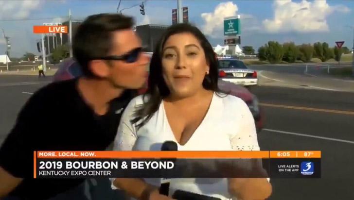 Hombre que besó a reportera enfrentaría cargos por acoso