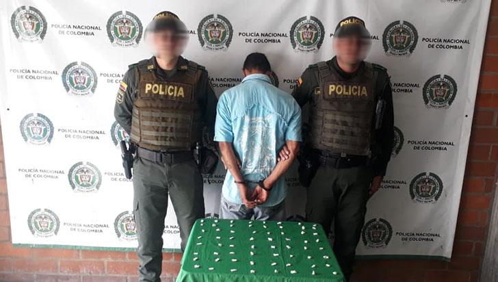 Capturado hombre con 70 dosis de bazuco