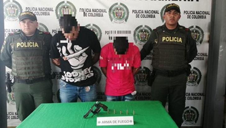 Dos hombres capturados por porte ilegal de  armas de fuego