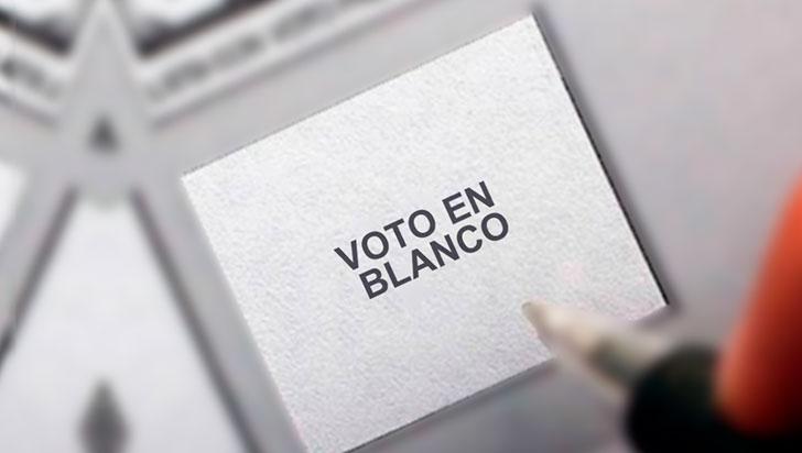 Voto en blanco, una opción en las elecciones  del 27 de octubre