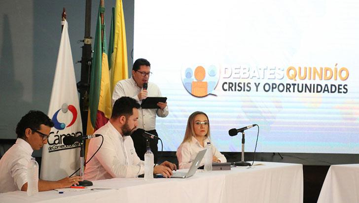 Este miércoles, gran debate con candidatos a la gobernación del Quindío