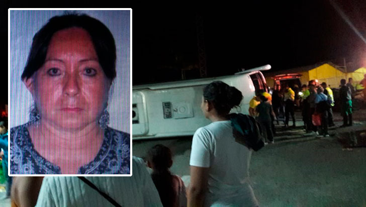 Una mujer muerta y 35 personas heridas dejó el volcamiento de un bus