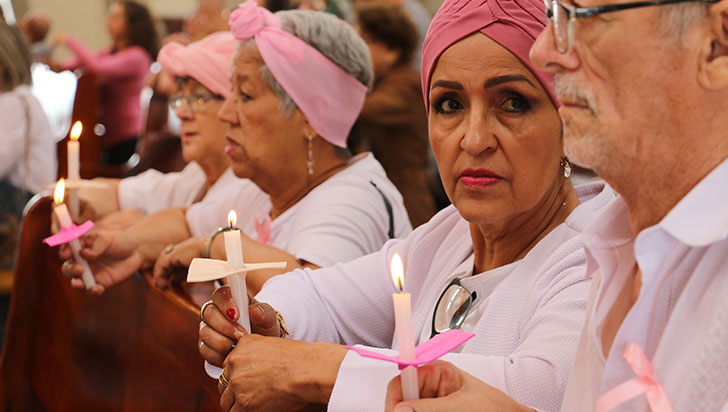 Con eucaristía, se conmemoró Día Internacional de la Lucha Contra el Cáncer