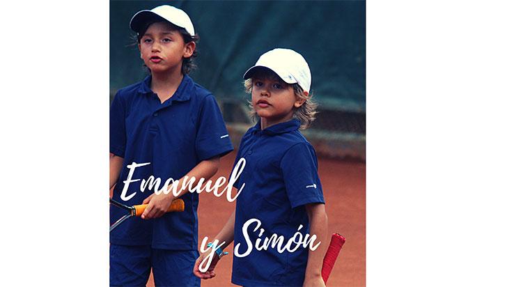 Emanuel y Simón, pareja de alto nivel en el chiquitines
