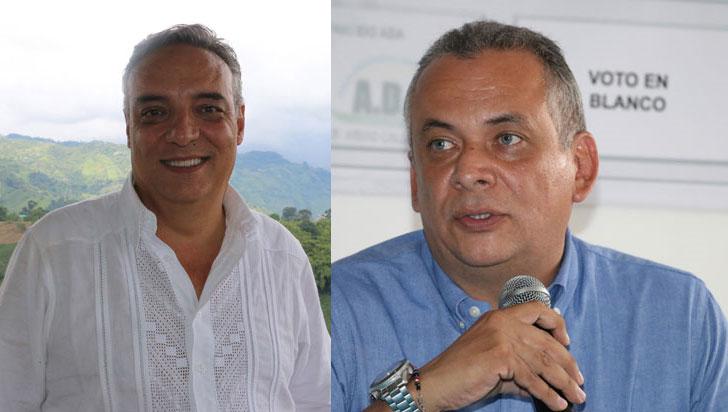 Gobernador del Quindío y alcalde de Armenia, en acto de entrega de credencial