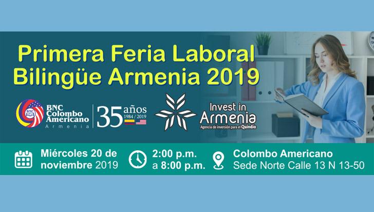 100 vacantes en la primera feria laboral bilingüe de Armenia