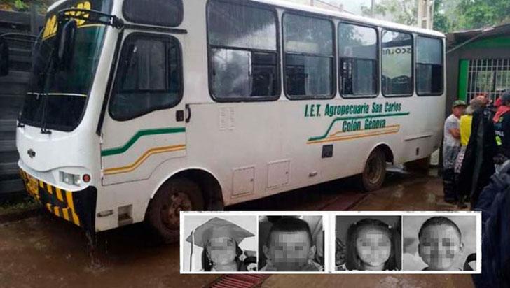 Al menos cinco niños mueren atropellados por un autobús escolar en Nariño