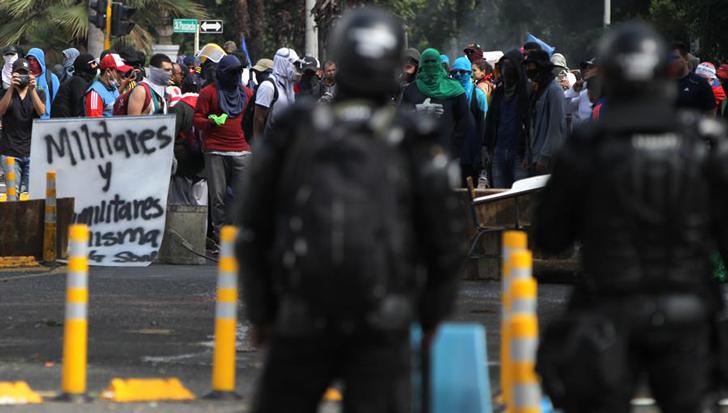 Bloqueos en transporte público en inicio de jornada de protestas