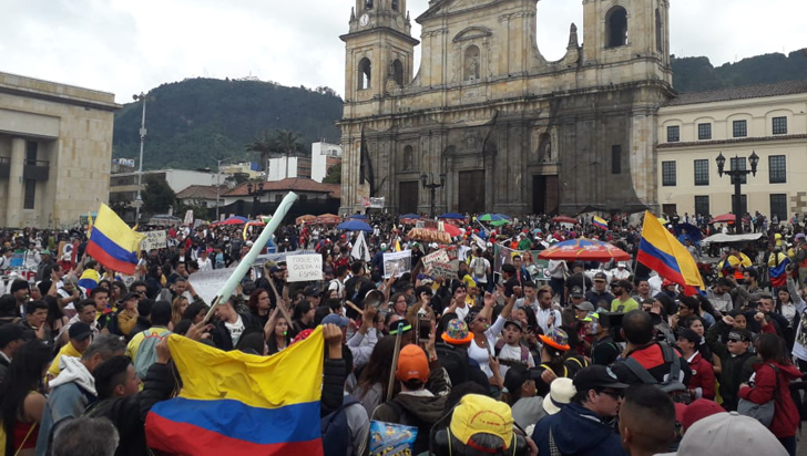 Con un carnaval inició segundo paro nacional en Bogotá