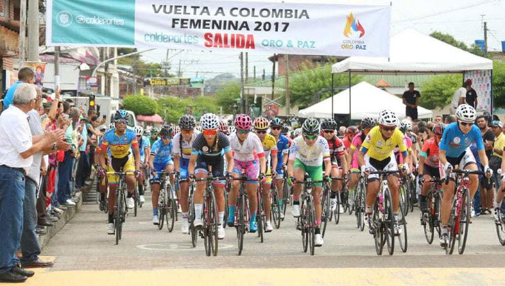 Vuelta a Colombia Femenina 2019 con meta en Salento
