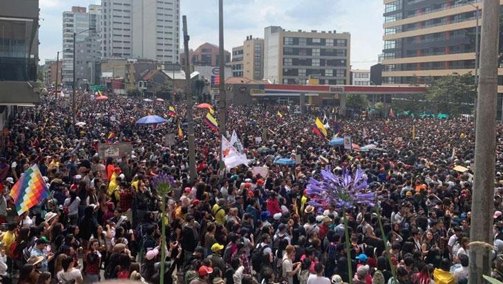 La música se tomó las calles y parques de Bogotá en apoyo al paro nacional