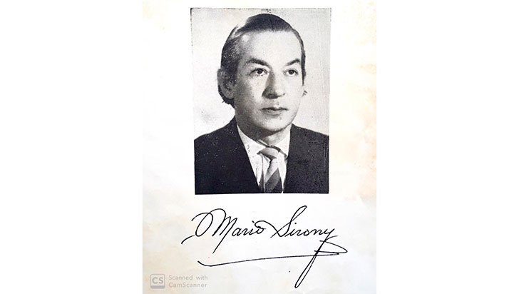 Mario Sirony, el poeta de Salento y del rocío