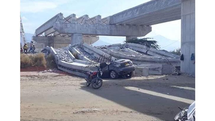 Al menos dos muertos y tres heridos por desplome de puente en Magdalena