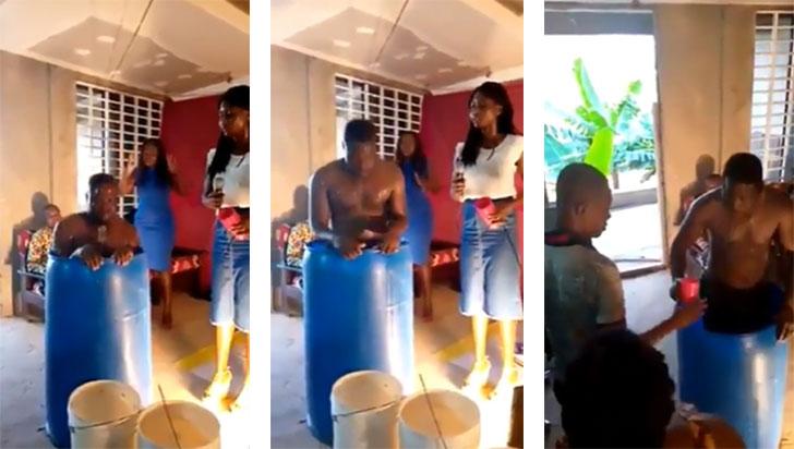 'De esta agua no beberé', pastor hizo que sus feligreses bebieran el líquido con el que se bañó