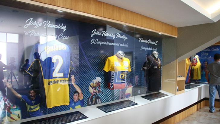 Museo del deporte, vitrina de hazañas de atletas