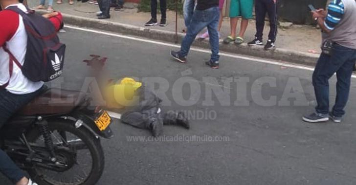Adulto mayor murió tras ser atropellado por un motociclista