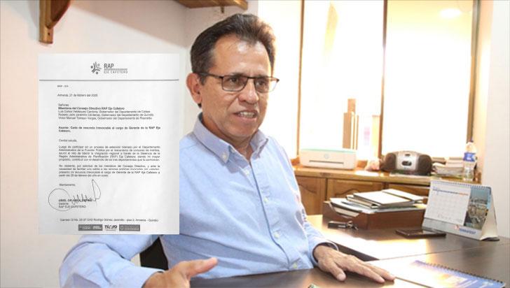 Por postura de nuevos gobernadores, Uriel Orjuela renunció a la gerencia de la RAP