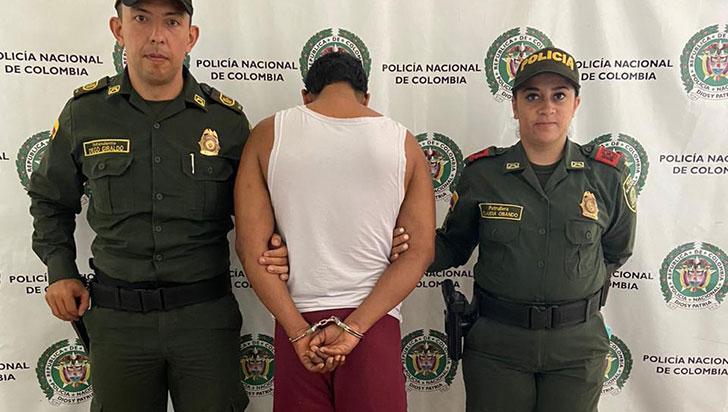 Capturado en  La Tebaida por el  delito de homicidio
