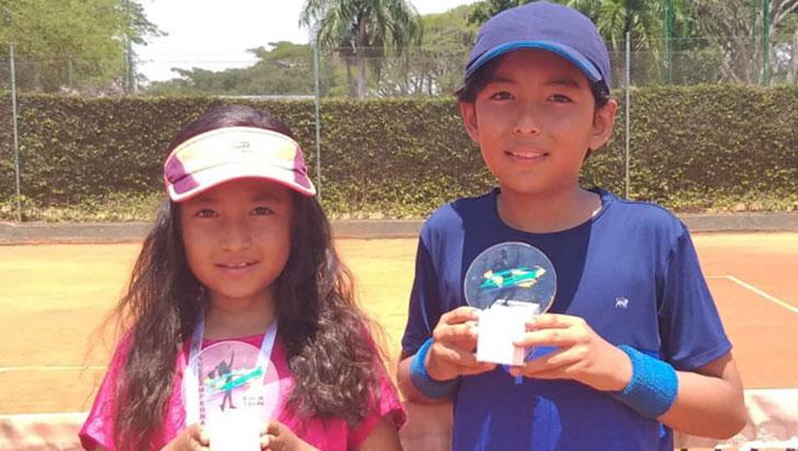 Hermanos Barbosa León figuraron en regional de tenis de Pereira