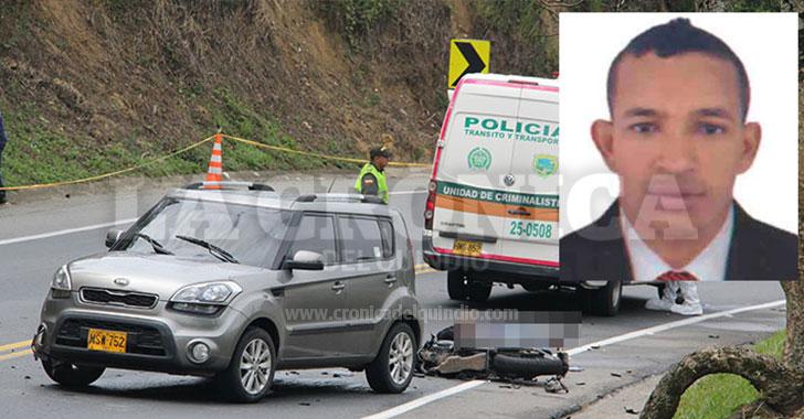 Accidente cobró la vida de un motociclista y dejó herida a su acompañante