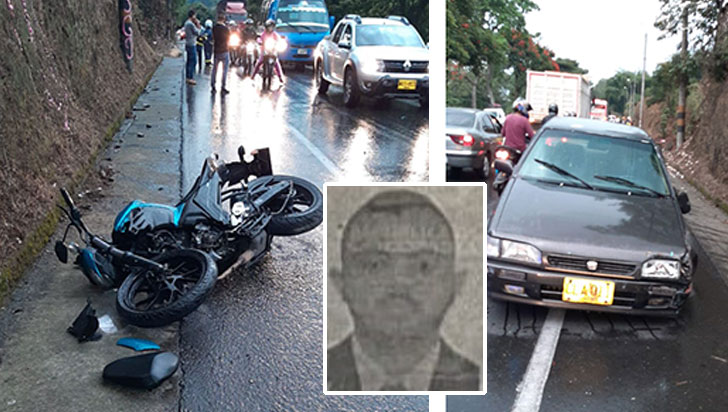 Falleció tras colisionar contra un carro