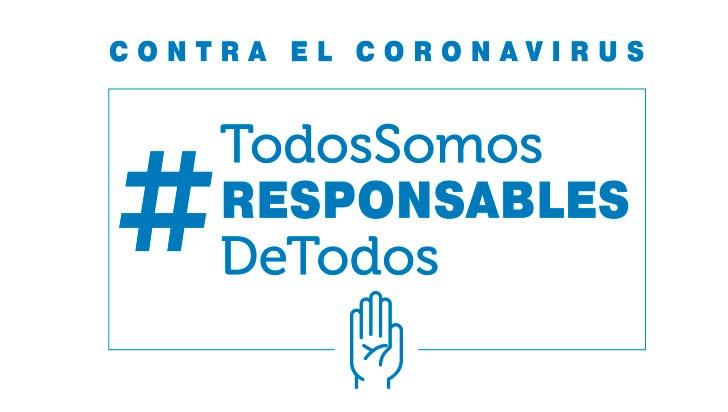 Contra el coronavirus #TodosSomosResponsablesDeTodos