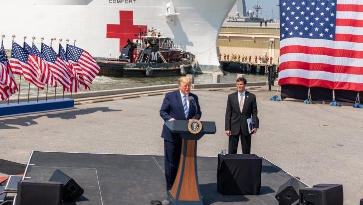 Trump se desdice y amplía hasta el 30 de abril las medidas contra COVID-19