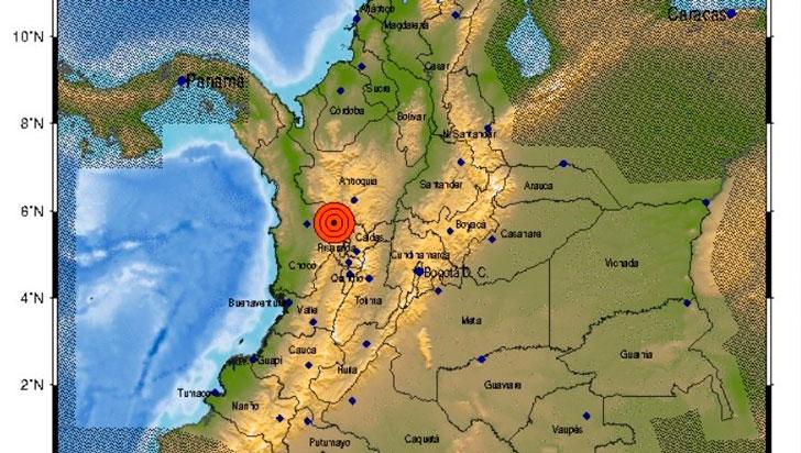 Sismo de 5 grados se sintió en el Quindío, el epicentro fue en Betania, Antioquia