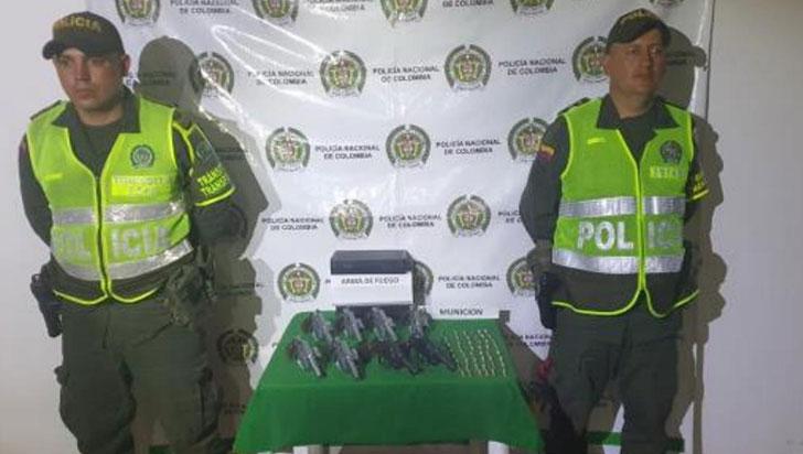 Armamento incautado por la Policía