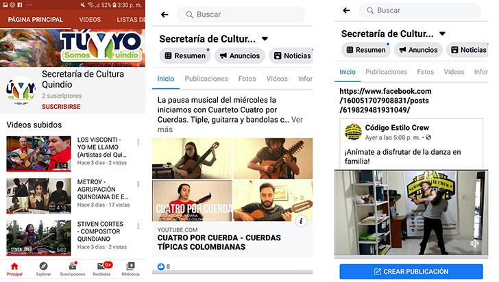 Quindianos podrán disfrutar de eventos artísticos y culturales por las redes sociales