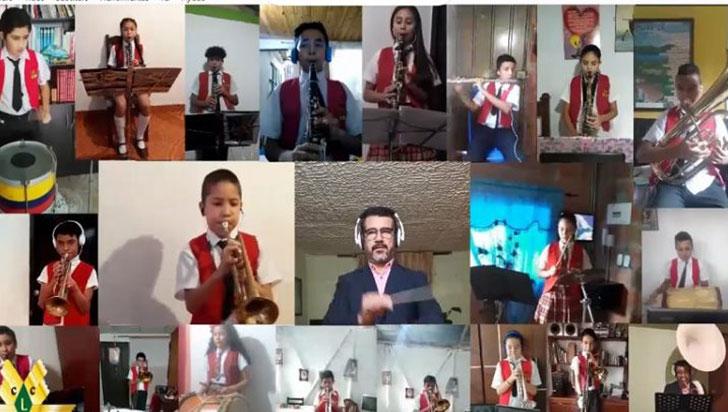 Banda del colegio Libre de Circasia presentó ensamble virtual